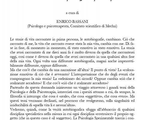 vita e conoscenza in psicologia e in psicoterapia dott enrico